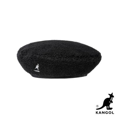 KANGOL-PLUSH 貝蕾帽-黑色