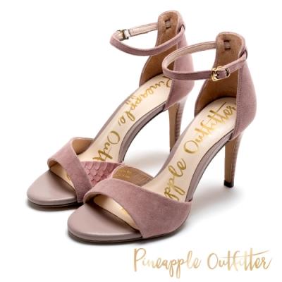 Pineapple Outfitter 絕對質感皮革高跟鞋-絨粉