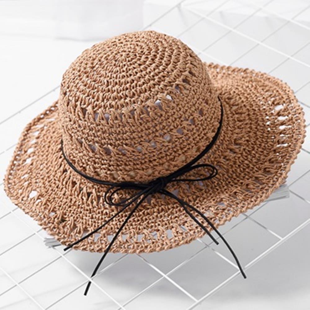 米蘭精品 草帽防曬遮陽帽-夏季海島渡假休閒女帽子母親節禮物2色73rp26