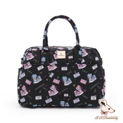 B.S.D.S冰山袋鼠 - 日常美學 - 大容量時尚旅行包 - 布鞋黑【W122-K】