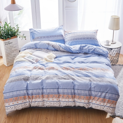 A-ONE 100%純棉-清新E系列-加大床包/枕套組-夢見