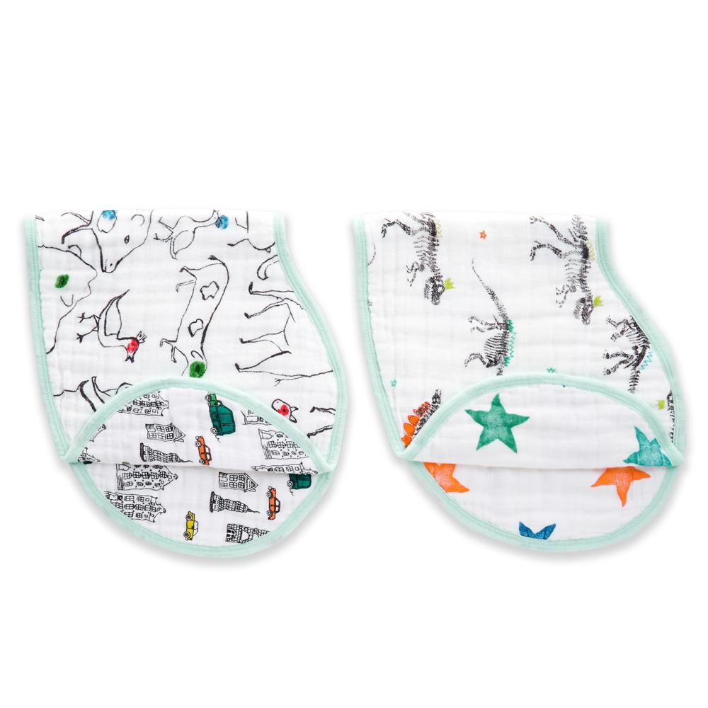 【美國aden+anais】幼兒打嗝巾(2入)-塗鴉AA7058 @ Y!購物