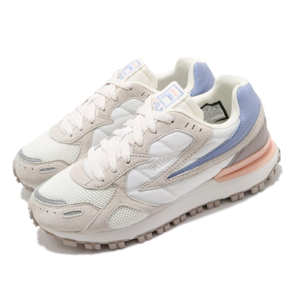 Fila 休閒鞋 Zagato 運動 男女鞋 復古 麂皮 質感 厚底 球鞋 情侶穿搭 白 灰 4C624U912