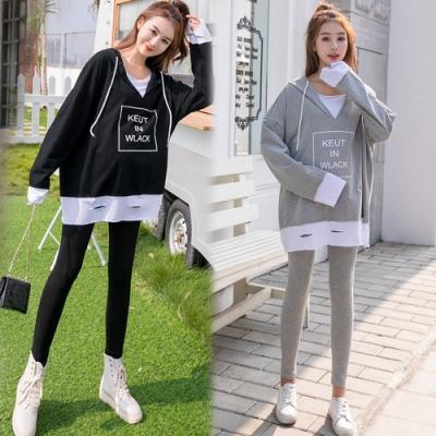 【韓國K.W.】(預購) 玩美潮流字母休閒套裝褲