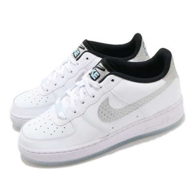 Nike 休閒鞋 Air Force 1 LV8 KSA 女鞋 經典款 AF1 皮革 簡約 球鞋 穿搭 白 銀 CW5909100
