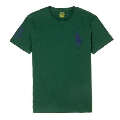 Polo Ralph Lauren 經典刺繡大馬素面短袖T恤-深綠色