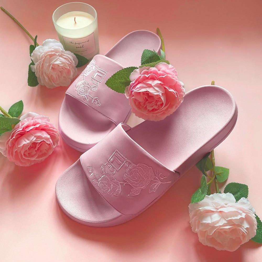 FILA #母親節限定 DRIFTER 女拖鞋-粉 5-S136V-555