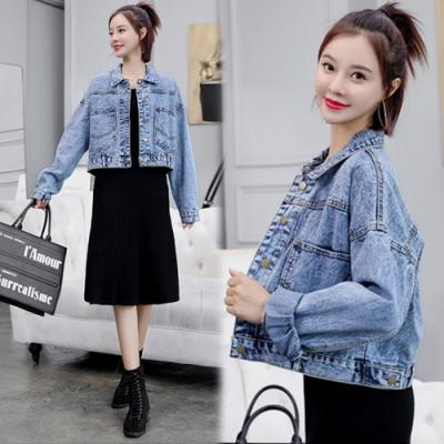 【韓國K.W.】(預購)韓時尚迷情牛仔外套-1色