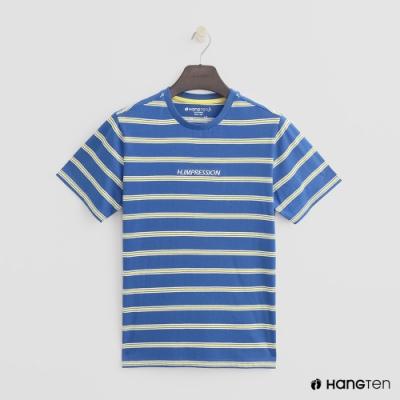 Hang Ten- 青少童裝-全棉條紋短T-藍
