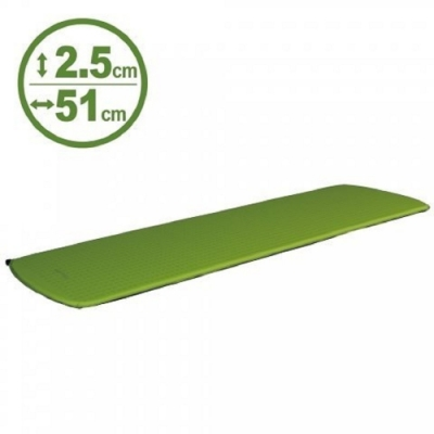 100mountain 183 x 51 x 厚2.5cm 登山型充氣睡墊 果綠 550g