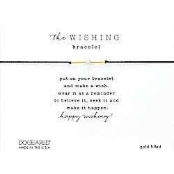 Dogeared Wishing 閃亮星辰豆豆手鍊 幸運珍珠手鍊 金色X黑色 附原廠盒