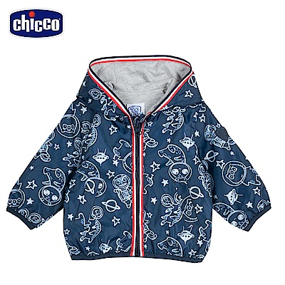 chicco-To Be Baby- 防風連帽外套-青色