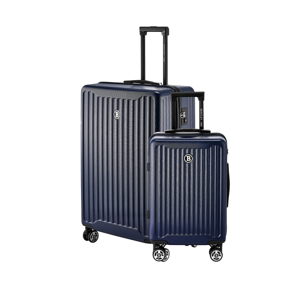 BENTLEY 28吋+20吋 都會輕旅系列 PC+ABS 合金拉桿行李箱 二件組-藍
