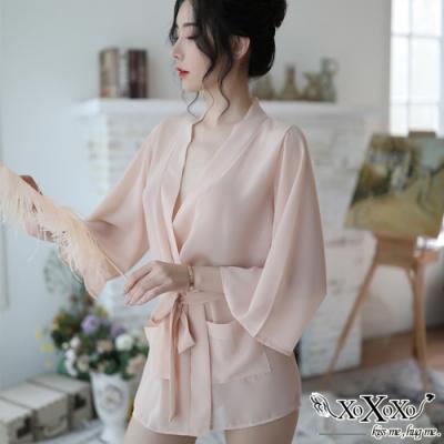 罩衫 曖昧時光兩件式睡衣組 優雅粉 XOXOXO