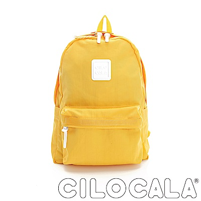 CILOCALA 亮彩尼龍防潑水後背包 黃色(大)