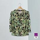 ILEY伊蕾 渡假熱帶植物印花上衣(綠)