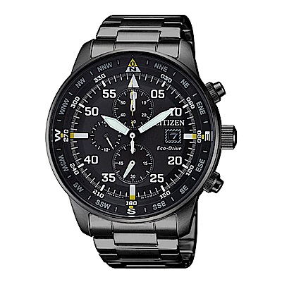 CITIZEN 星辰Chronograph系列光動能計時腕錶CA0695-84E