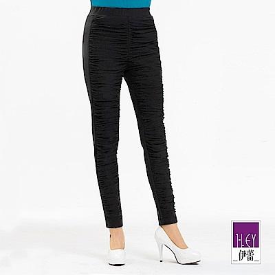 ILEY伊蕾 層次紗網造型超修身內搭褲(黑)