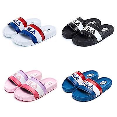 [雨天搶購72折] FILA KIDS童鞋防滑CPU運動拖鞋S419V(任選)(19-24cm)