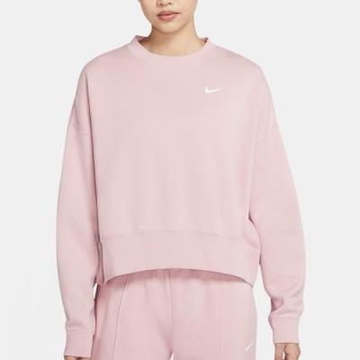 NIKE 上衣  大學T 長袖上衣 保暖 女款 藕粉色 CK0169-645 AS W NSW CREW FLC TREND