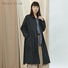新降【MOSS CLUB】優雅綁帶長袖大衣-外套(灰色)