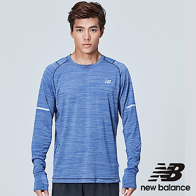 New Balance 輕量慢跑長袖上衣 AMT73236TBH 男 寶藍