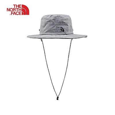 The North Face北面男女款灰色防水透氣遮陽帽|3FGAHAT