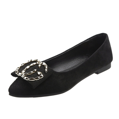 KEITH-WILL時尚鞋館 英倫帥氣皮扣平底鞋-黑色