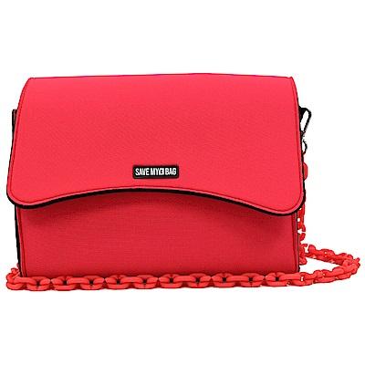 SAVE MY BAG 義大利品牌 BELLA MINI系列 螢光紅超輕量肩背/斜背包