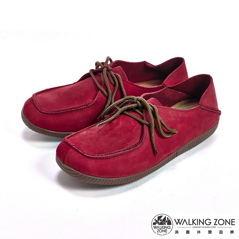 WALKING ZONE可踩式雙穿休閒女鞋-紅(另有藍、棕)