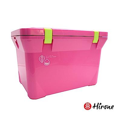 日本Hirone日本製-繽紛假日-便攜式大容量戶外冰桶-15公升-蜜桃粉