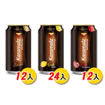 德國進口卡麥隆黑麥汁Karamalz(330mlx24)-檸檬24+紅石榴12+原味12