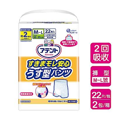 日本大王 Attento超透氣防漏復健褲M~L(22片/包)X2包(箱購)