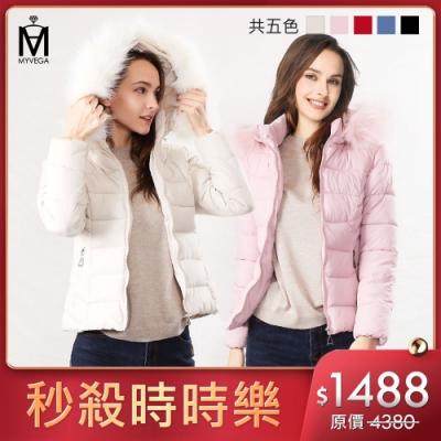 [時時樂限定]麥雪爾 MA保暖鋪棉短版連帽外套-五色任選