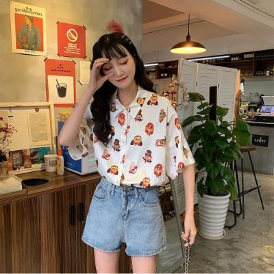 IMStyle 大碼chic寬鬆韓版花襯衫【正品】