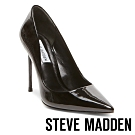 STEVE MADDEN-VALA摩登派對素面尖頭高跟鞋-鏡黑色