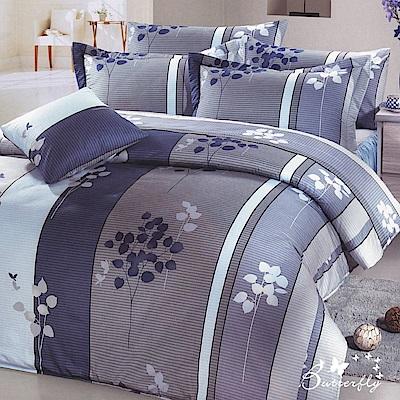 BUTTERFLY-台灣製造 40 支紗 100 %純棉-秀士棉-單人五件式床罩組-風中情緣