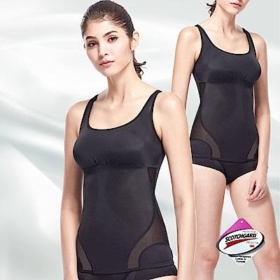 【超值2入組】THECURVE 全速修身 微整型輕塑衣2入組(黑/白)