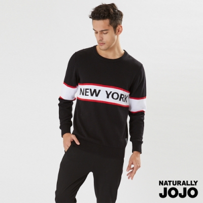 【NATURALLY JOJO】中性紐約緹花針織衫 (黑)