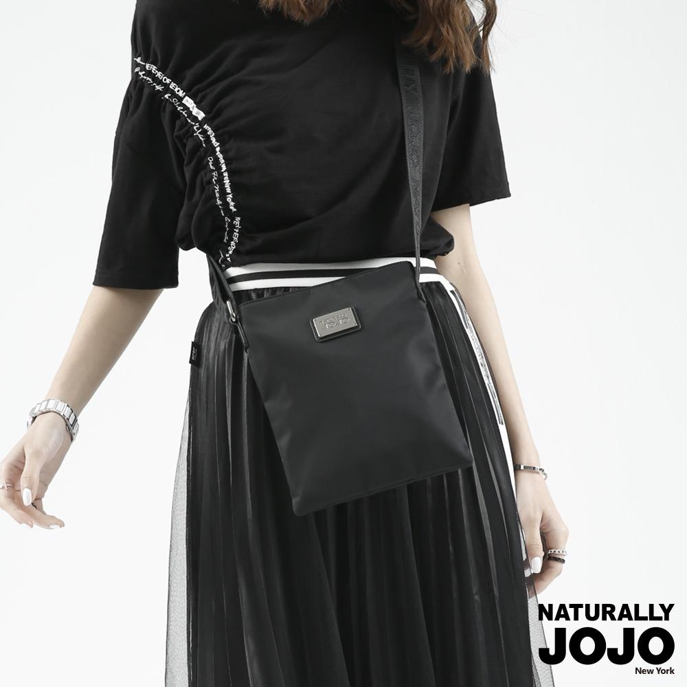 NATURALLY JOJO 尼龍小斜肩包(黑)