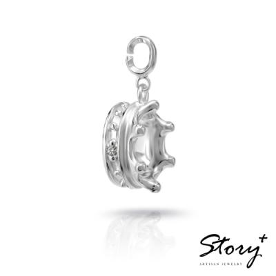 STORY故事銀飾-X mas系列-Elsa天然鑽石 扣扣墜飾(純銀款)