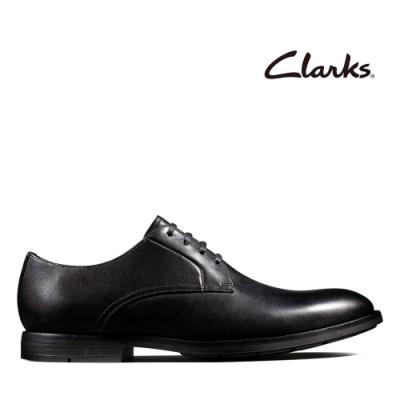 Clarks 工藝世家-杏仁頭鞋型復刻設計紳士鞋 黑色