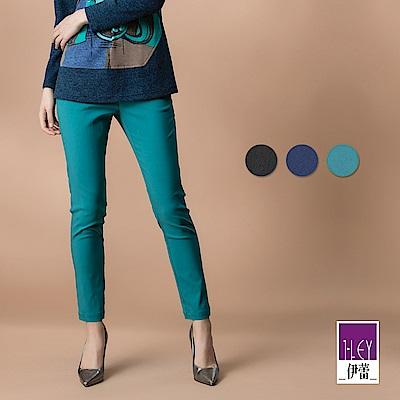 ILEY伊蕾 彈力修身燙鑽內搭褲(黑/藍/綠)