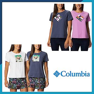 Columbia 哥倫比亞 女款- 快排LOGO短袖上衣-4色  活動款 UAR31230
