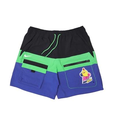 Nike 短褲 Hyperflat woven Shorts 男款 膝上 鬆緊褲頭 抽繩 卡通塗鴉 黑 綠 藍 DM7919-011