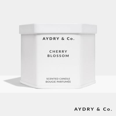 美國 AYDRY & CO. 日本櫻花 天然手工香氛 極簡純白錫罐 212g