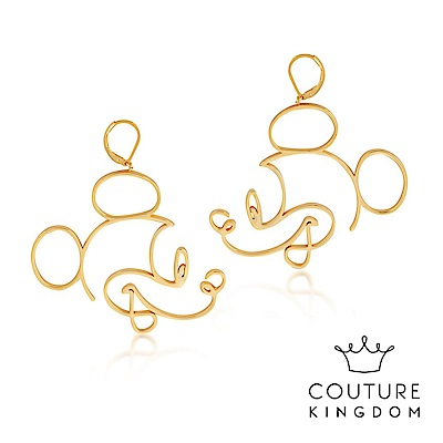 Disney Jewellery by Couture Kingdom 米奇鏤空線條金耳環