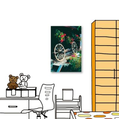 24mama掛畫 單聯式 攝影 花卉 城市街景 無框畫 40X60cm-輪上花