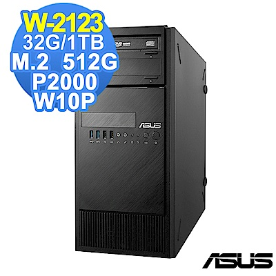 ASUS WS880T W-2123/32G/1TB 512G/P2000/W10P