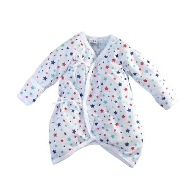 魔法Baby包屁衣 台灣製嬰兒薄長袖護手蝴蝶衣  k51593
